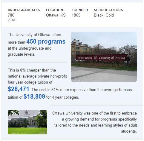 Ottawa University History
