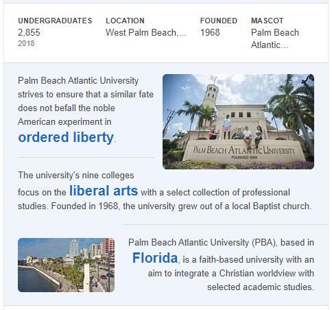Palm Beach Atlantic University History