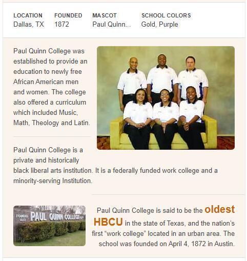Paul Quinn College History