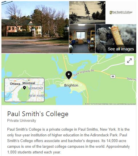 Paul Smith's College History