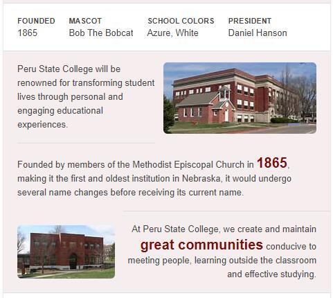 Peru State College History