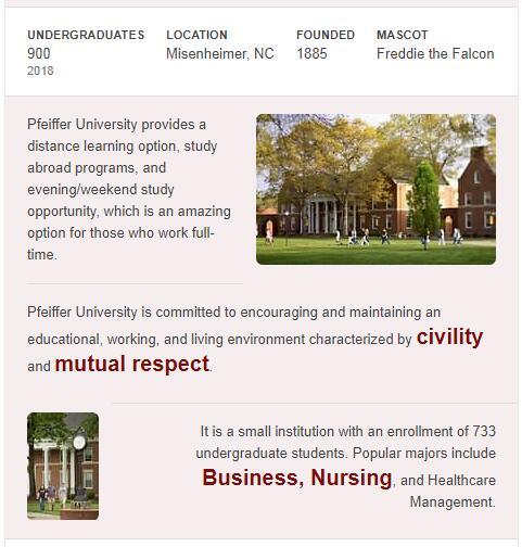 Pfeiffer University History