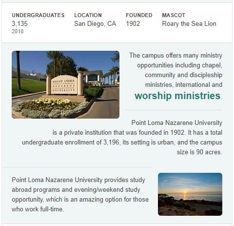 Point Loma Nazarene University History