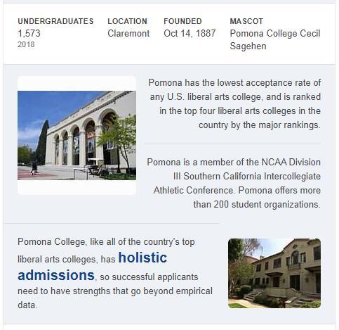 Pomona College History
