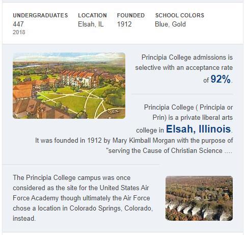 Principia College History