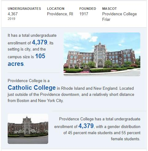Providence College History