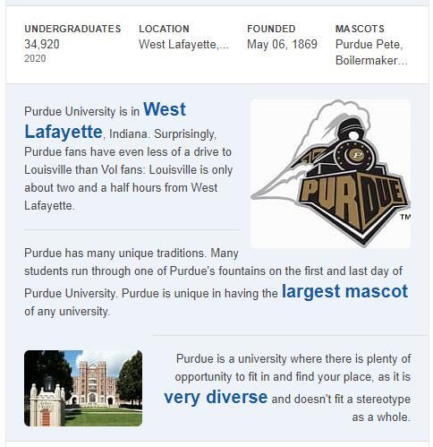 Purdue University-West Lafayette History