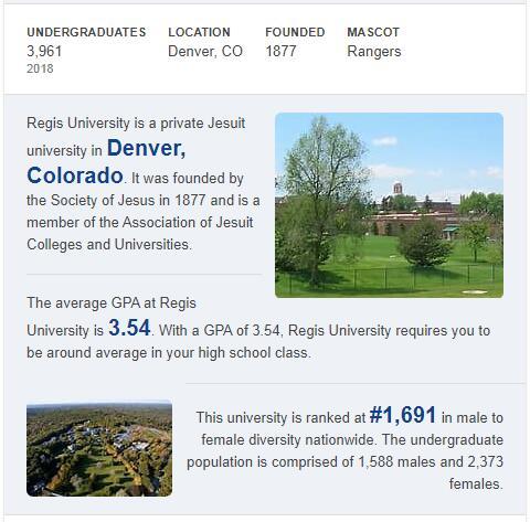 Regis University History