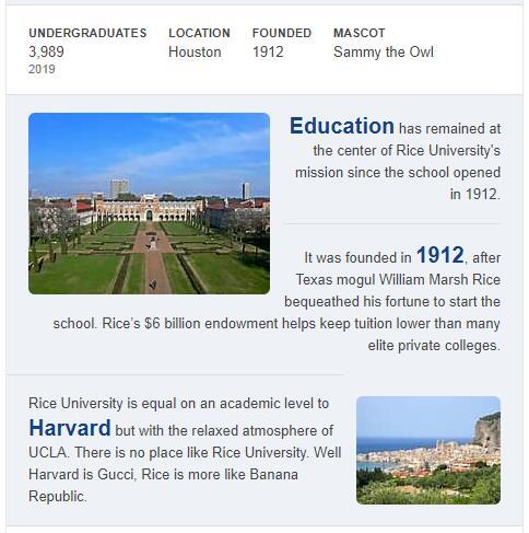 Rice University History