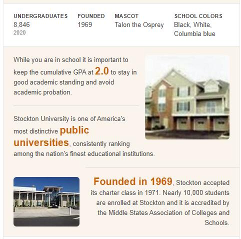 Richard Stockton College of New Jersey History