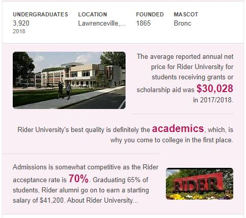 Rider University History
