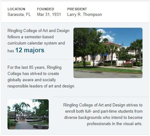 Ringling College of Art and Design History