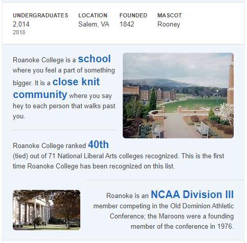 Roanoke College History