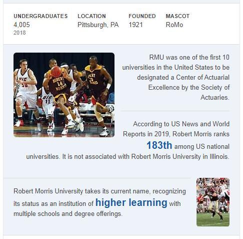 Robert Morris University History
