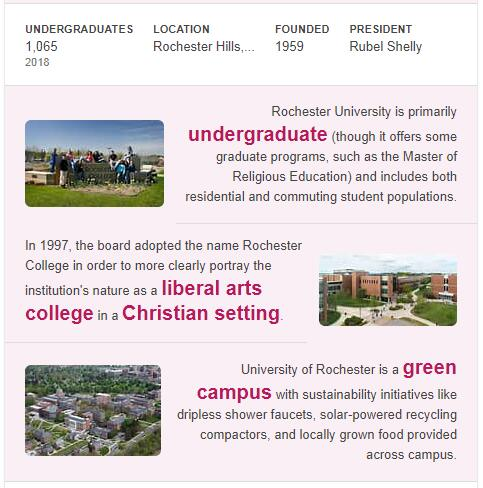 Rochester College History