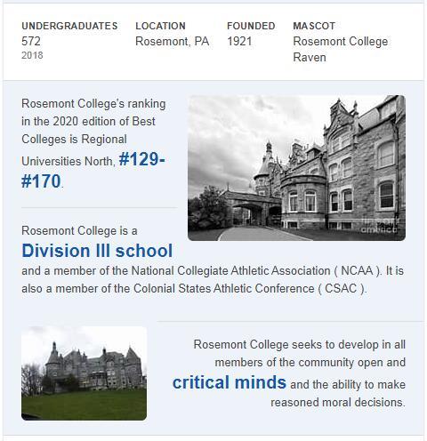 Rosemont College History