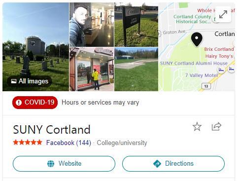 SUNY College-Cortland History