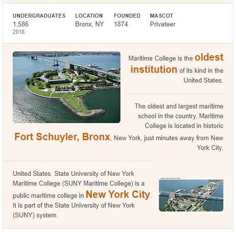 SUNY Maritime College History