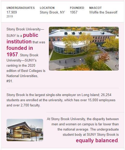 SUNY-Stony Brook History