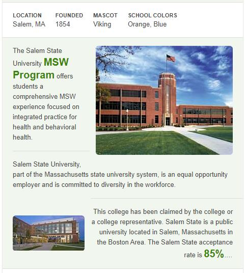 Salem State College History