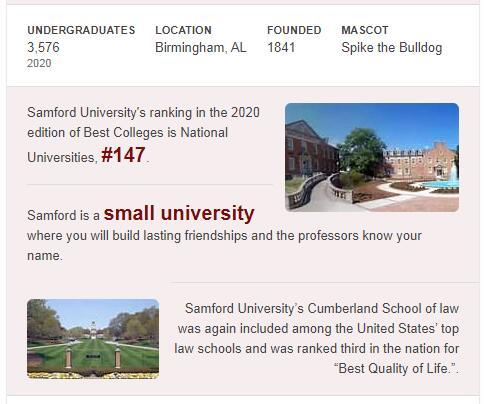 Samford University History