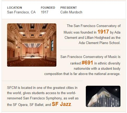 San Francisco Conservatory of Music History