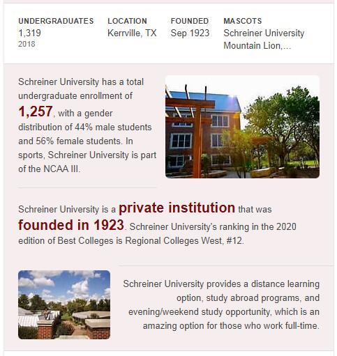 Schreiner University History