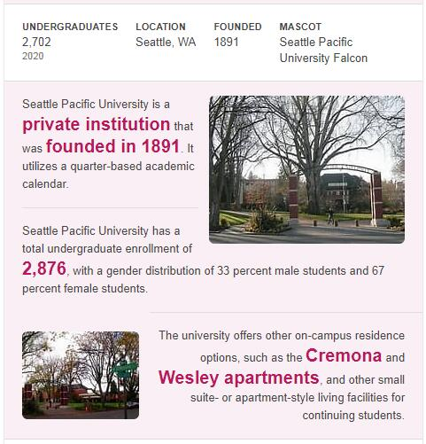 Seattle Pacific University History