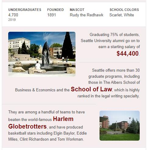 Seattle University History