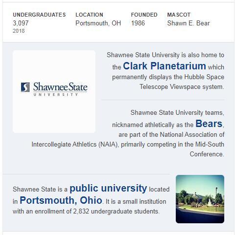 Shawnee State University History