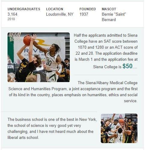 Siena College History