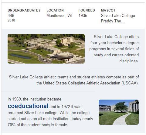 Silver Lake College History