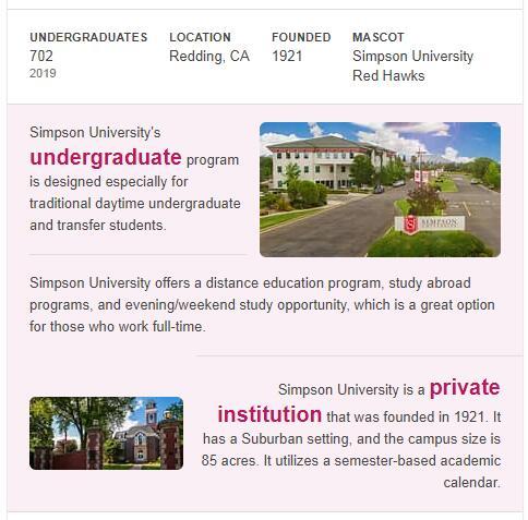 Simpson University History