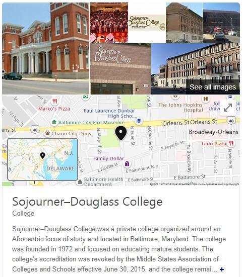 Sojourner-Douglass College History