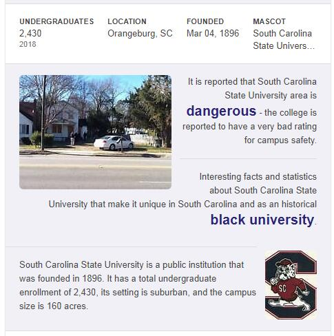 South Carolina State University History