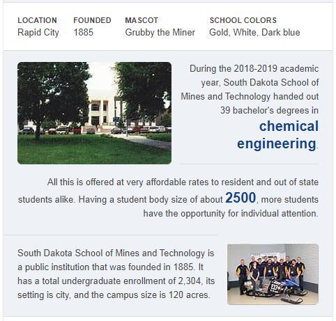 South Dakota School of Mines and Technology History