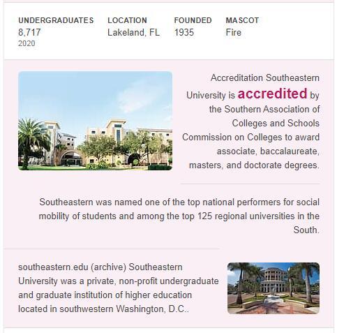 Southeastern University History