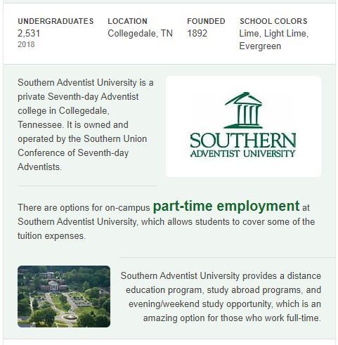 Southern Adventist University History
