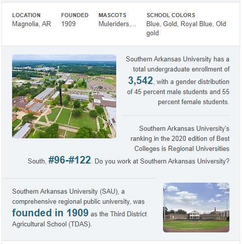Southern Arkansas University History