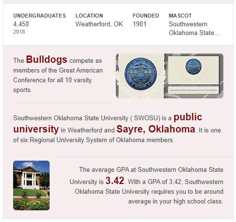 Southwestern Oklahoma State University History