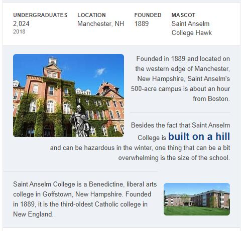 St. Anselm College History