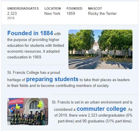 St. Francis College History