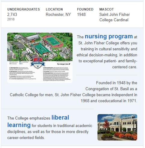 St. John Fisher College History