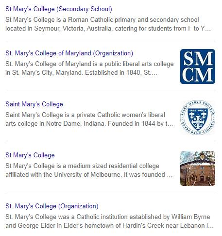 St. Mary's College History