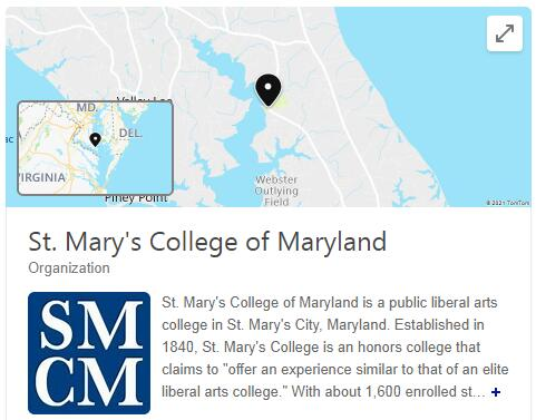 St. Mary's College of Maryland History