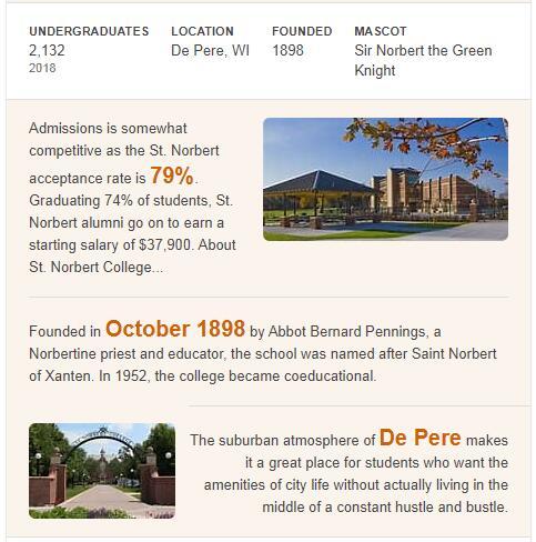 St. Norbert College History