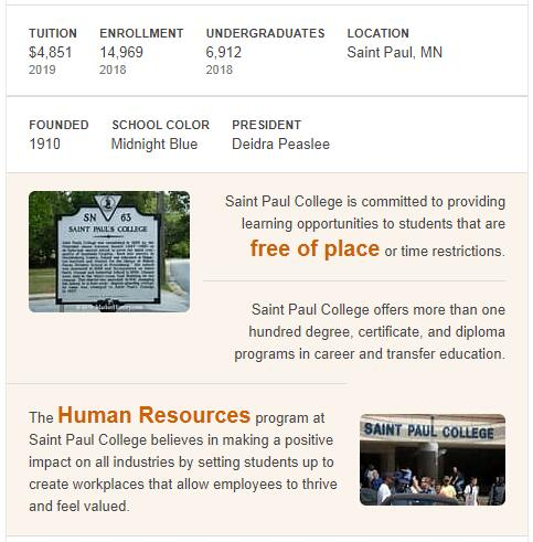 St. Paul's College History