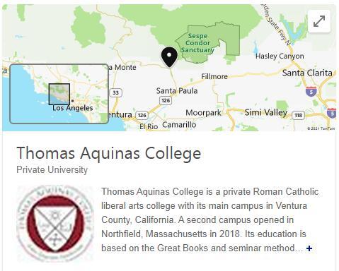 St. Thomas Aquinas College History
