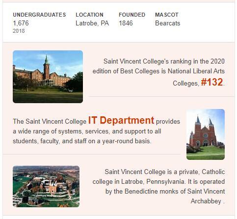 St. Vincent College History