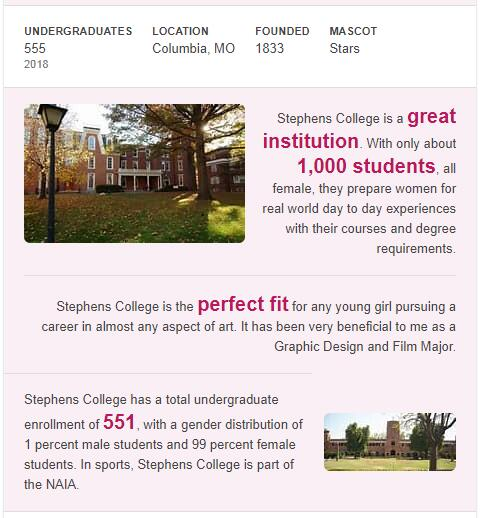 Stephens College History